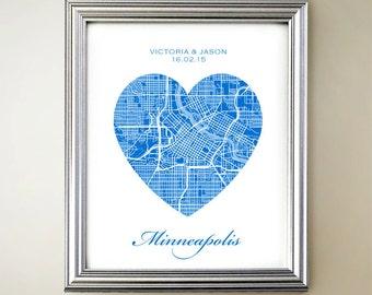 Minneapolis Heart Map