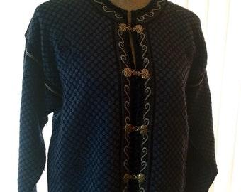Skjaevelan of Norway wool Cardigan Sweater size  L
