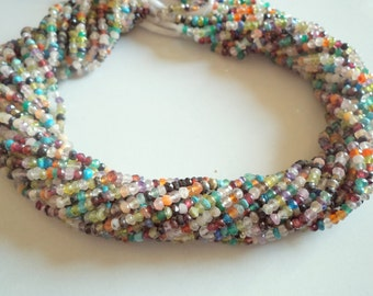 24 CTS Gergeous MULTI STONE Faceted Gemstone Beads 3 mm 13 inches