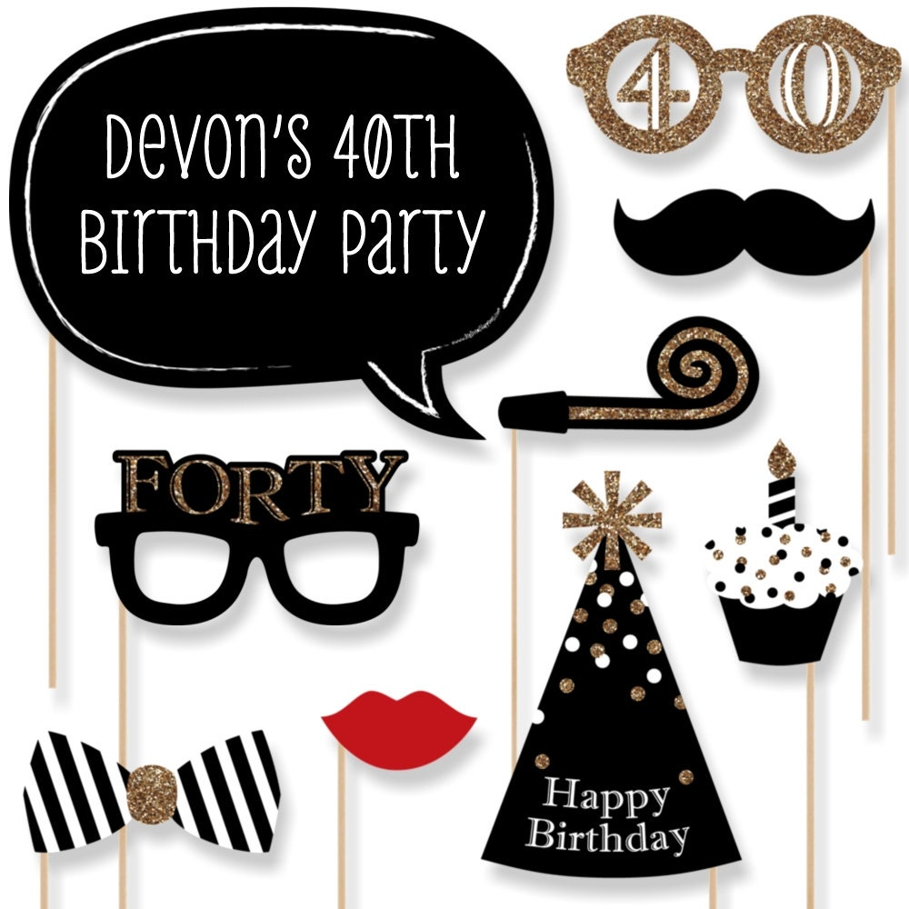 40th Birthday Decorations For Her 40th Birthday Party Etsy