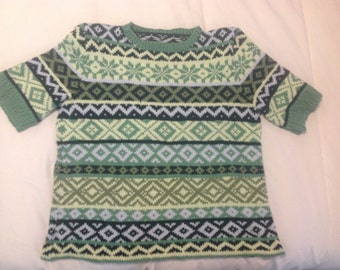 Hand-made woman's sweater