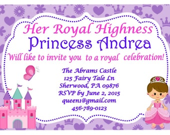 Cute Princess Invitation