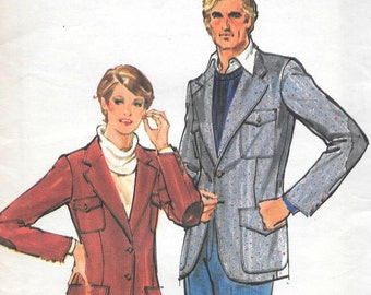Vintage 1970s Butterick Sewing Pattern 5645- Misses' Jacket size 14 uncut