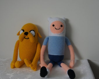 Finn the human crocheted soft toy by Liz