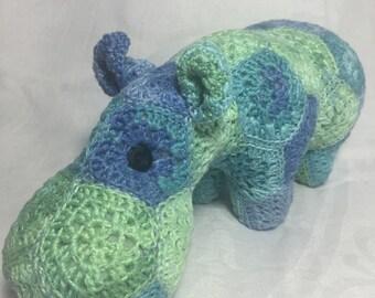 Happy Hippo. Design by Heidi Bears Designs
