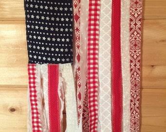 American Flag fabric door hanger