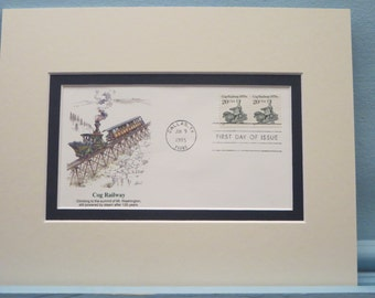 New Hampshire - Mount Washington and its Cog Railway & First Day Cover of the Cog Engine stamp