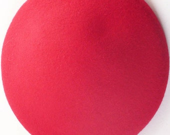 Red Button Hat Base - Pre-blocked Base for Headpiece and Fascinator - Millinery supplies – Wool Felt