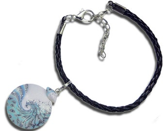 Blue charm bracelet Blue bracelet Light blue bracelet Sky blue bracelet Winter bracelet Blue jewelry Light blue jewelry Sky blue jewelry