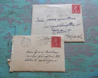 Adorable 1920's Cards with Original Postmarked Envelopes!