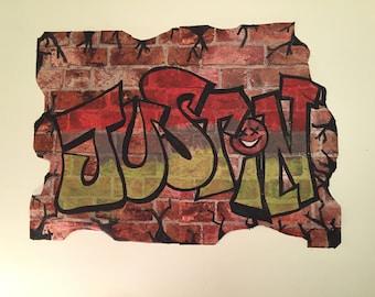 Custom Graffiti Wall Art