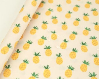 Laminated Pineapple Pattern Digital Printing Cotton Fabric by Yard