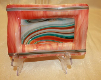 Fused Glass Art Bowl - Arizona Sunset 2
