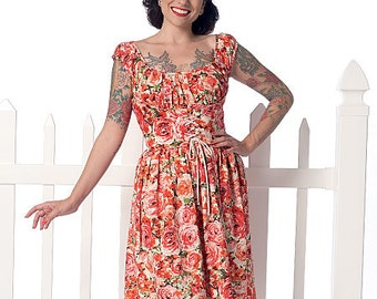 Butterick Sewing Pattern B6322 Misses' Ruched Corset-Style Dress