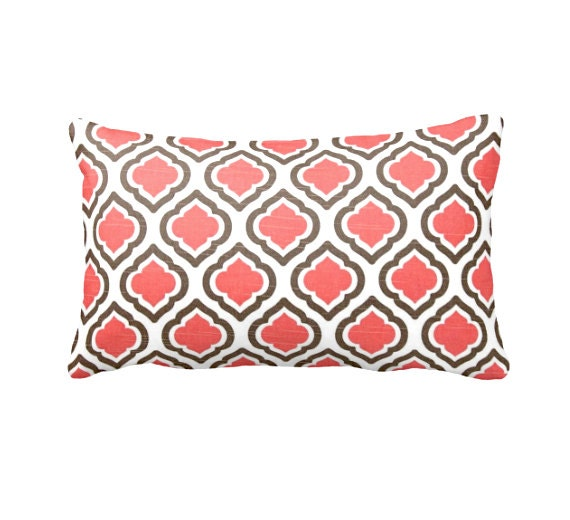 Coral Bed Throw Pillows : Coral Throw Pillow Cover Coral Pillow Cover by ReedFeatherStraw