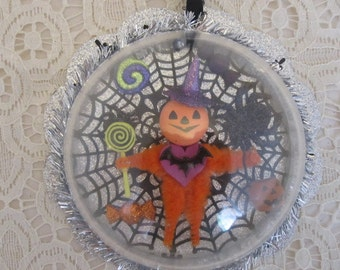 Halloween Pumpkin Diorama Ornament