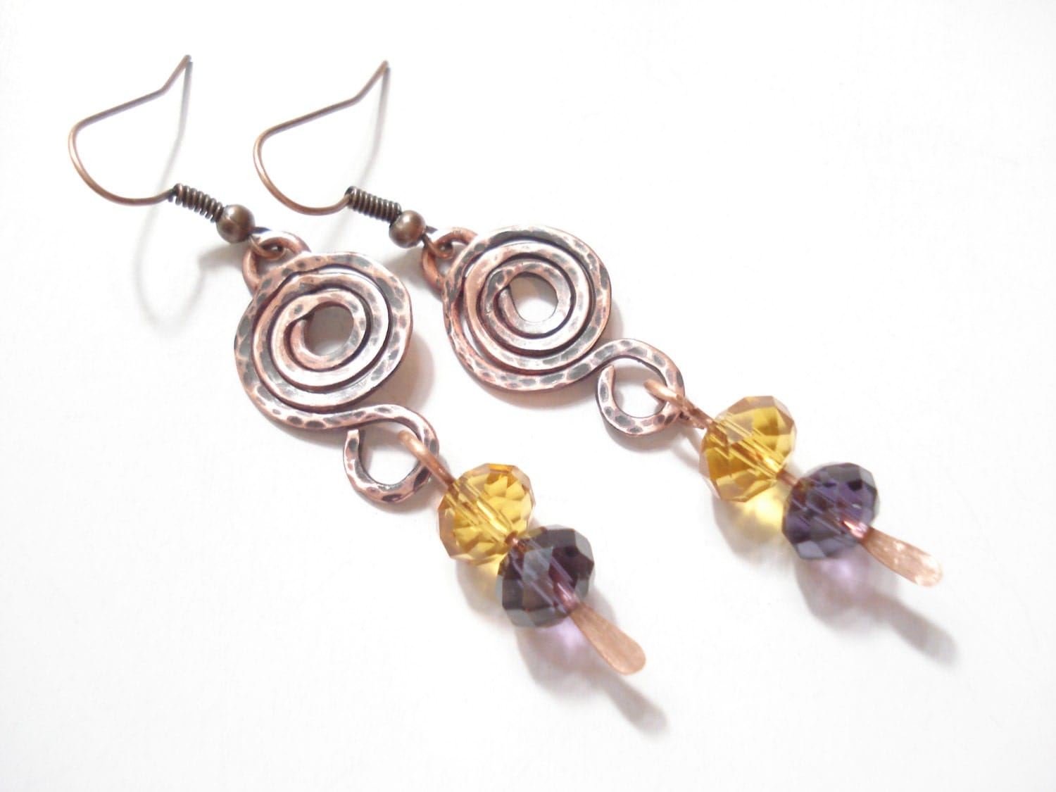 made earrings handmade wire wrapped earrings antique faced earrings wire 3900