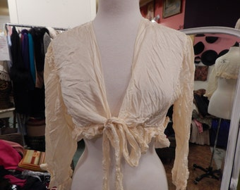 Vintage Magnolia Pearl  shabby  romantic lace  empire waist blouse