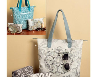Butterick Pattern B6361 Tote Bags and Cosmetic Pouches