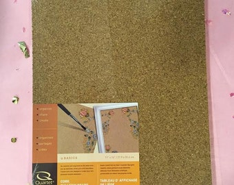 3 Pack Blank Bulletin Cork Board for Stenciling, Painting, Etc.