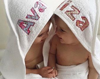 Personalised baby bath towel
