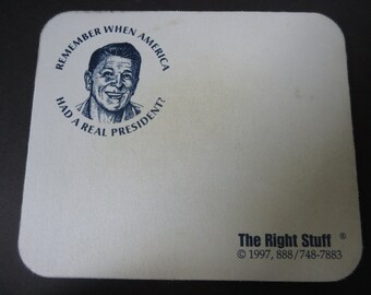 Ronald Reagan Mousepad - Remember When We Had a Real President