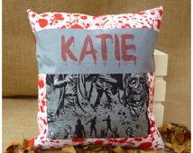 Walking Dead Cushion, The Walking Dead Pillow, Zombie Cushion, Walkers Cushion, Personalised Walking Dead Gift, Zombie Gift, Zombie Pillow
