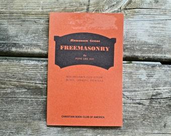 1960s - Freemasonry & Pope Leo - New World Order, Illuminati, Freemason, Masonic Book -