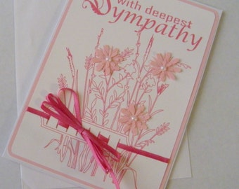 with Deepest Sympathy Pink Flowers