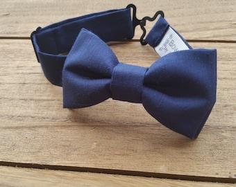 Baby Bow Tie, 0-12 Months (Navy Blue)