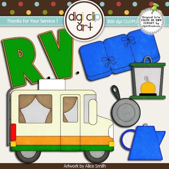 RV Camping 1 Clip Art