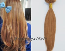 20 inch dark honey blonde color indian remy clip in hair extensions RHS086
