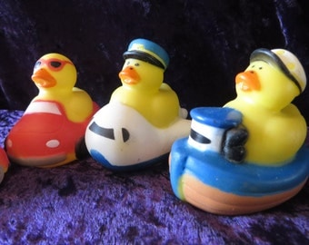 Transportation rubber ducks - boat, airplane, car, train