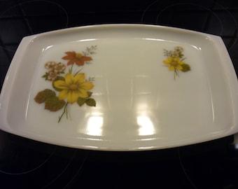 Retro JAJ Pyrex Autumn Glory serving platter. Large serving platter 60's