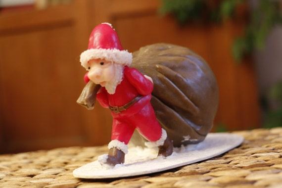 Santa piggy bank! Porcelain cold saeljana. Christmas gift.