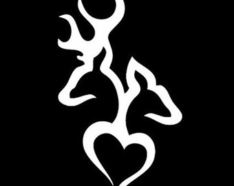 Live Laugh Love Browning Heart Deer Vinyl Decal - Browning vinyl decals