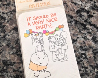 Eight Vintage ZIGGY Party Invitations - American Greetings