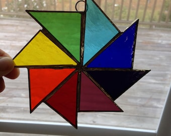 Multi-Colored Pinwheel Sun Catcher