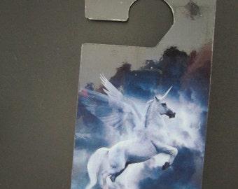 Flying Unicorn  Do not disturb door hanger.