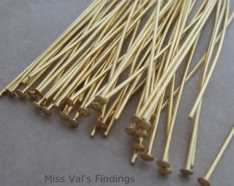 200 gold plated 4 inch headpins 21 gauge