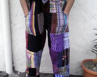 HIPPIE Maya Huipil Patch  Guatemalan PANTS. Post-Xmas Sale! Reduced 5 Dollars!