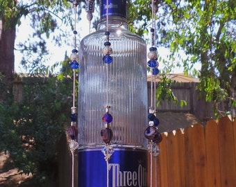RecycledThree Olives Vodka Bottle Wind Chime
