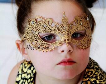 Animal Bat girl's Mask, Black Lace Mask, Embroidery Lace Mask, Masquerade Mask, Bat Masks