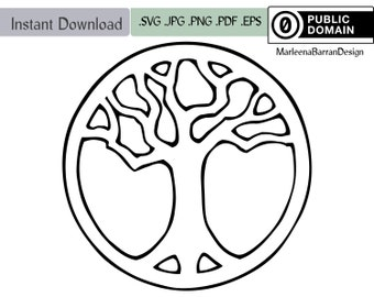 Tree of Life design, Yggdrasil, World tree. Simple tree pattern for use in jewellery casting and other crafts