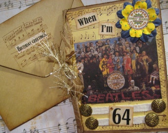 Beatles Birthday Card, When I'm 64, Sgt. Pepper's Lonely Hearts Club Band