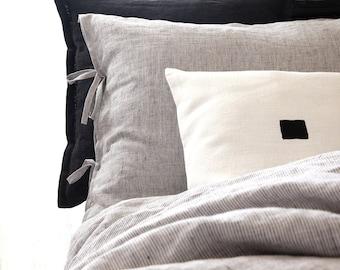 Custom linen bedding Queen, King, Euro King, Super King, Cal King, Oversized - Linen duvet cover - Doona cover - Gray by Linenspace   0401