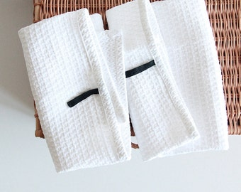 Guest towels - face towel set of 2 - spa towels - modern minimalist style - spa linens by Linenspace   0061