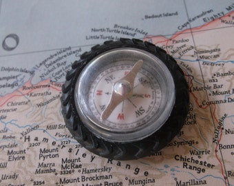 Vintage 1970s Compass Working, Camping, Glamping Outdoors durable Compass for Hiking