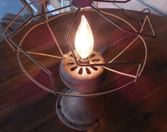 Rustic Fan Lamp