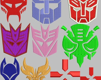 Transformers Emblems Embroidery Pack